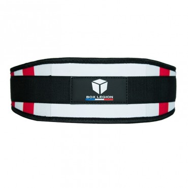 WEIGHTLIFTING BELT RED & WHITE | BOX LEGION