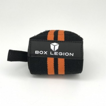 WRAPS VELCRO | NOIR & ORANGE | BOX LEGION