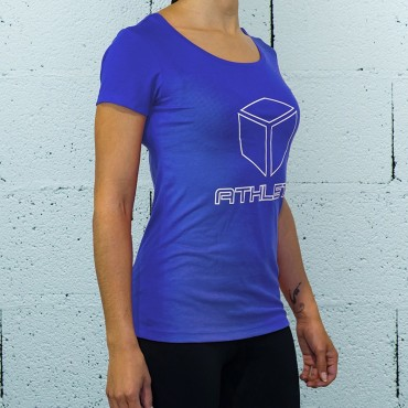T-SHIRT ATHLETE BLEU | FEMME | BOX LEGION