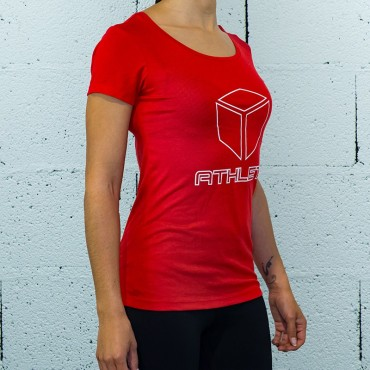 T-SHIRT ATHLETE RED | WOMAN | BOX LEGION