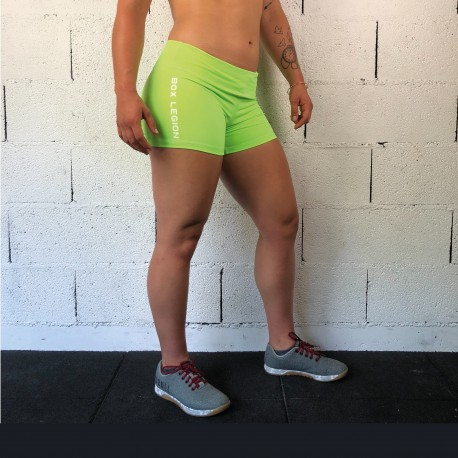 SHORT TRAINING VERT FLUO | FEMME | BOX LEGION