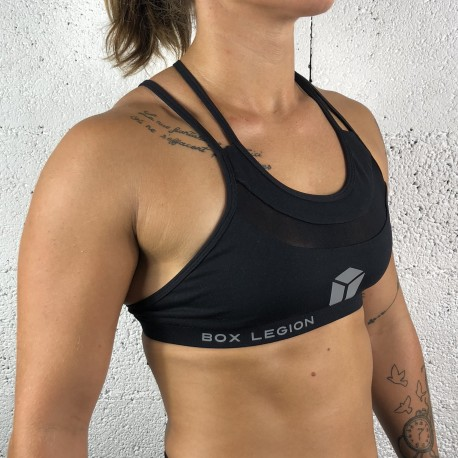 BRASSIÈRE CROSSBACK BLACK | WOMAN | BOX LEGION