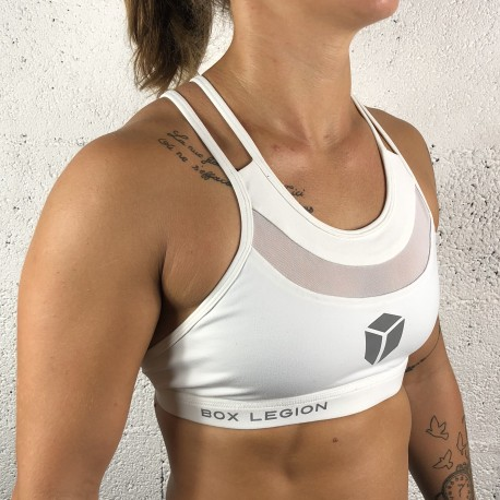 BRASSIÈRE CROSSBACK WHITE | WOMAN | BOX LEGION