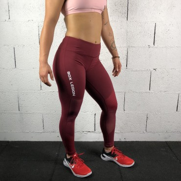 LEGGING POWERZONE BORDEAUX | FEMME | BOX LEGION