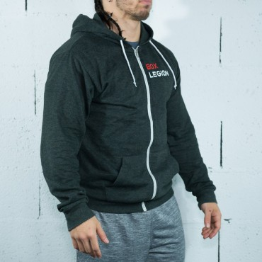 SWEAT ZIPPÉ BLACK | MAN |BOX LEGION