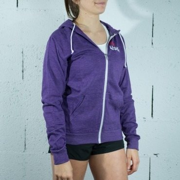 sweat zippé violet
