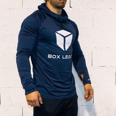 HOODED COOLFIT BLUE | MAN | BOX LEGION