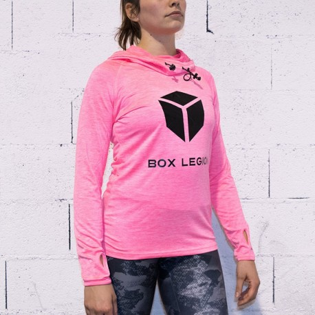 HOODED COOLFIT PINK | WOMAN | BOX LEGION