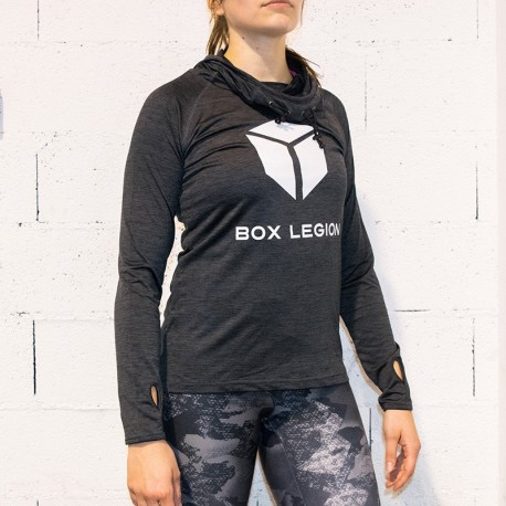 HOODED COOLFIT GREY | WOMAN | BOX LEGION