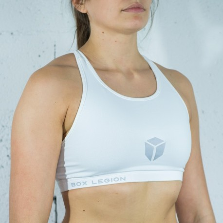 BRASSIÈRE HIGH REP WHITE | FEMME | BOX LEGION
