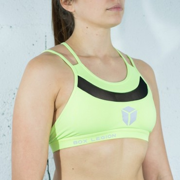 BRASSIÈRE CROSSBACK YELLOW | WOMAN | BOX LEGION